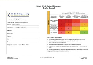 Safe work method statement swms steelnconcretebutterfly for Electrical isolation certificate template